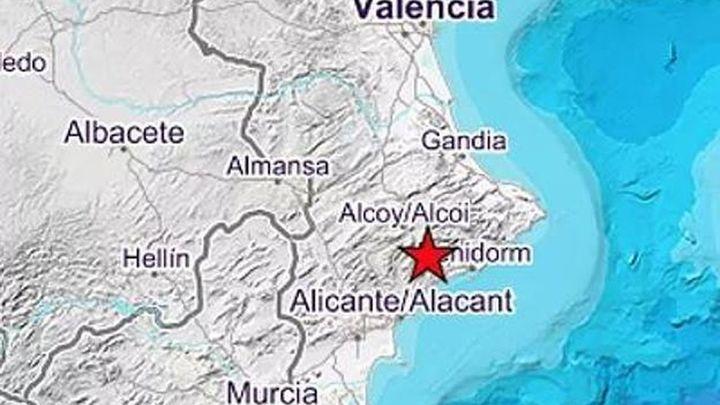 Un terremoto de 3,6 grados sacude el norte de Alicante y sur de Valencia y sobresalta a los vecinos de madrugada