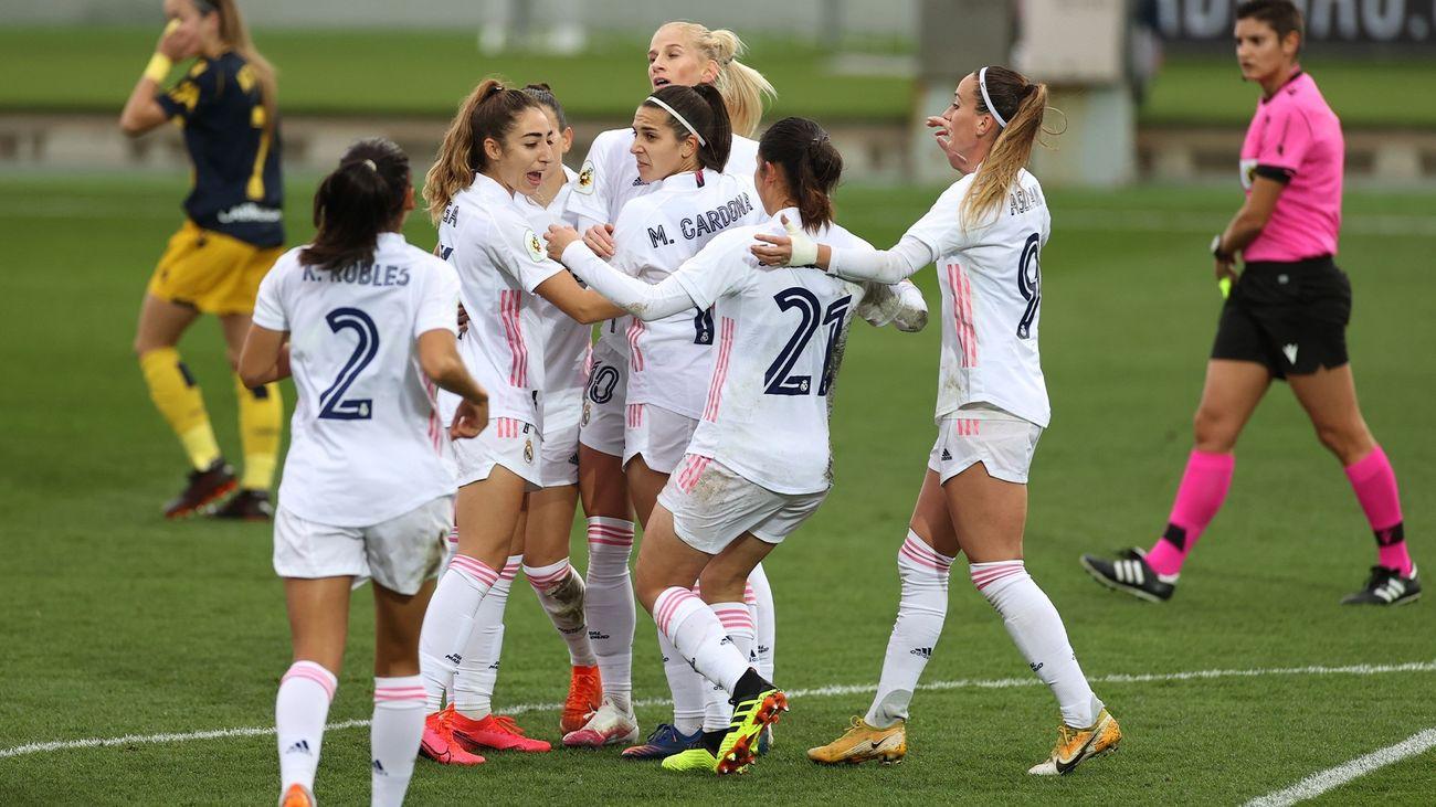 3-0. Espectáculo y goles del Real Madrid Femenino ante el Deportivo