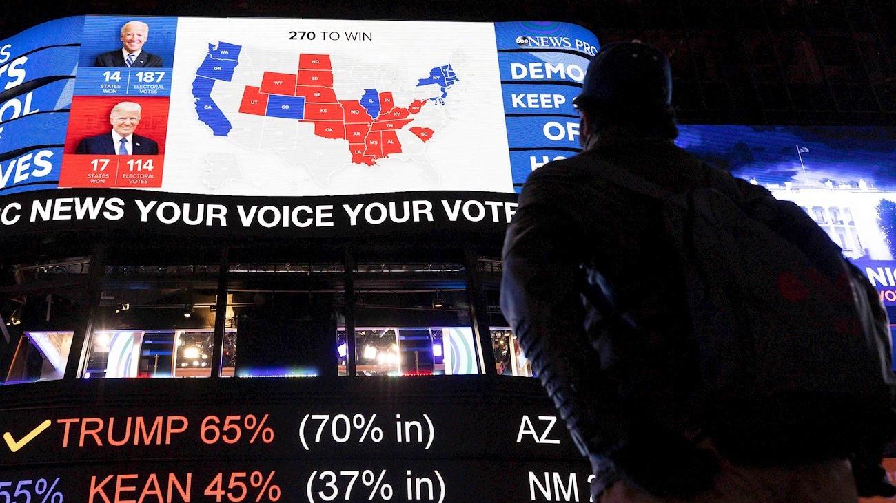 La presidencia de Estados Unidos está en el aire pendiente del voto por correo