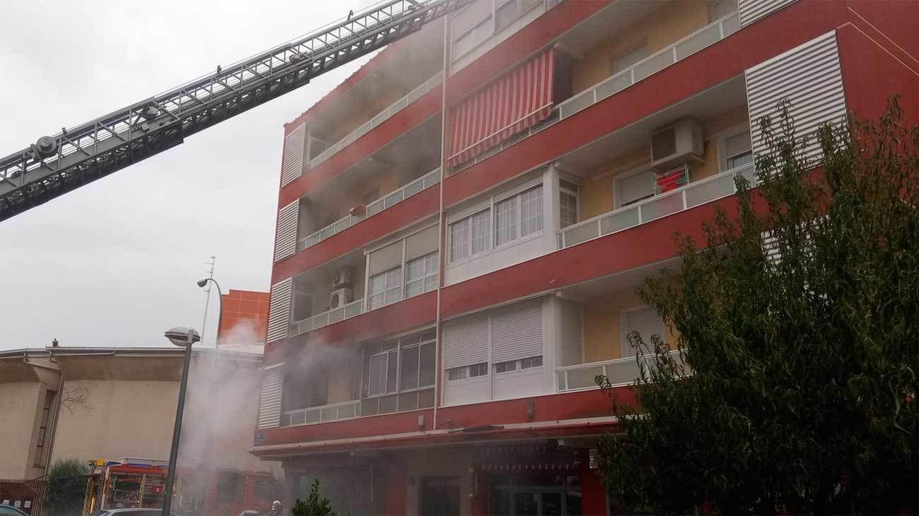 Incendio de una vivienda en Fuenlabrada con siete atendidos por el Summa-112