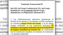 La Comisión de Educación elimina el castellano como lengua vehicular