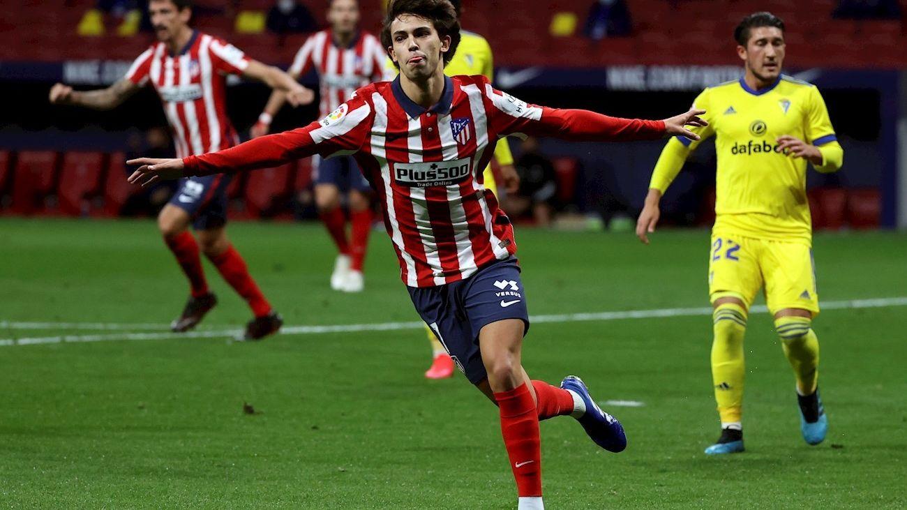 Joao Felix firmó un doblete en la victoria del Atlético de Madrid ante el Cádiz