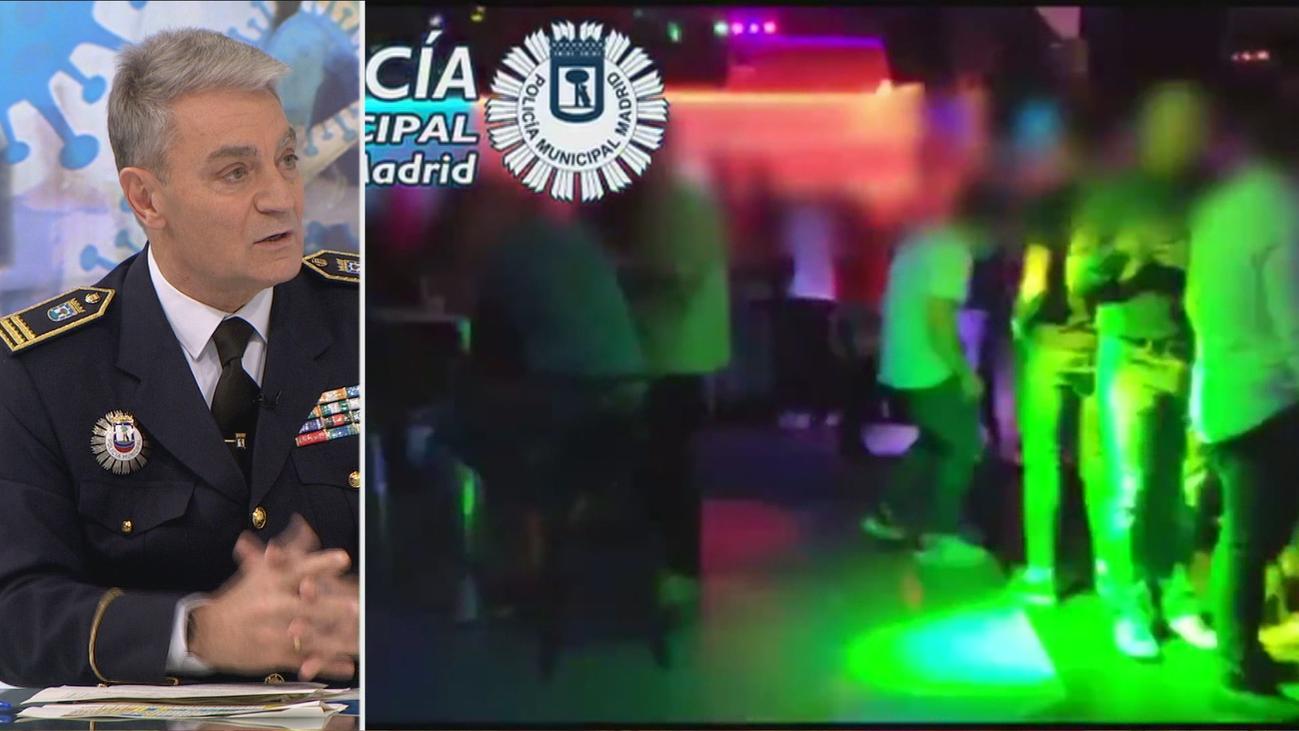 Alcohol, aforo completo y bailes sin mascarilla en las dos fiestas ilegales que la policía ha desalojado este sábado en Madrid