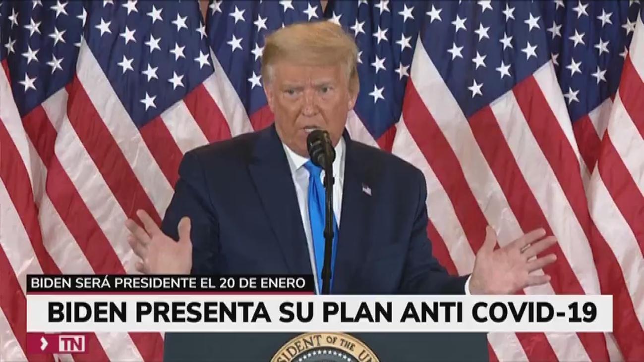 Trump cesa a su secretario de Estado de Defensa y Biden dice que su prioridad será la lucha contra el covid-19