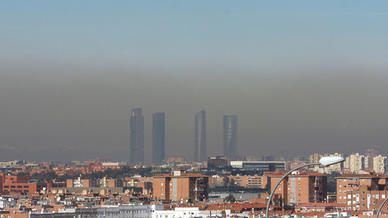 'Boina' de contaminación sobre la ciudad de Madrid