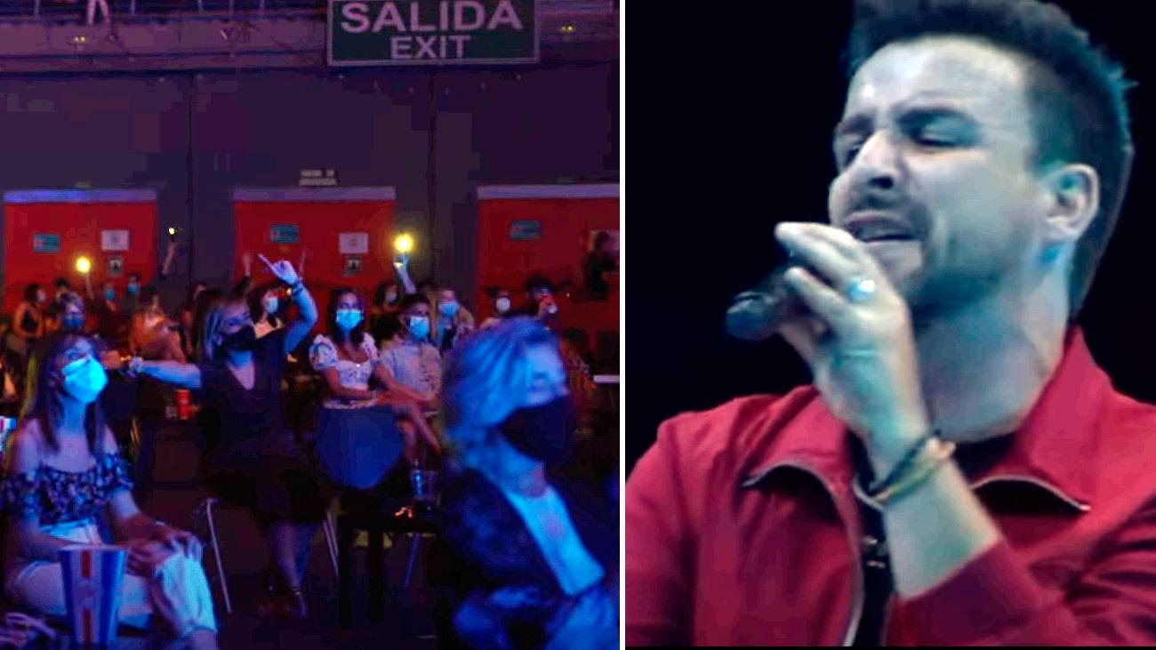 Diego Cantero del grupo 'El Funambulista' en el concierto celebrado en septiembre en el Wizink Center de Madrid