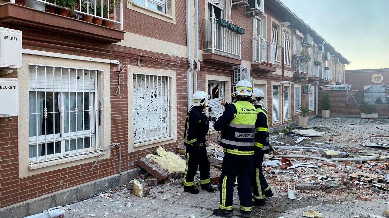 Imagen de los destrozos de la explosión de un laboratorio de droga en San Martín de la Vega
