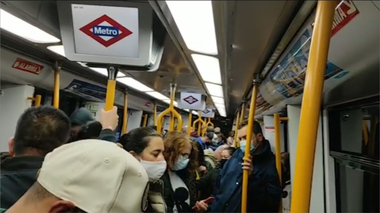 metro lleno