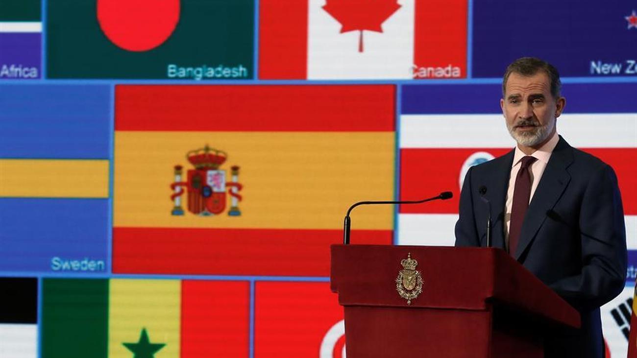 """El Rey pide """"unión, cooperación entre las naciones y multilateralismo"""" para luchar contra la pandemia"""