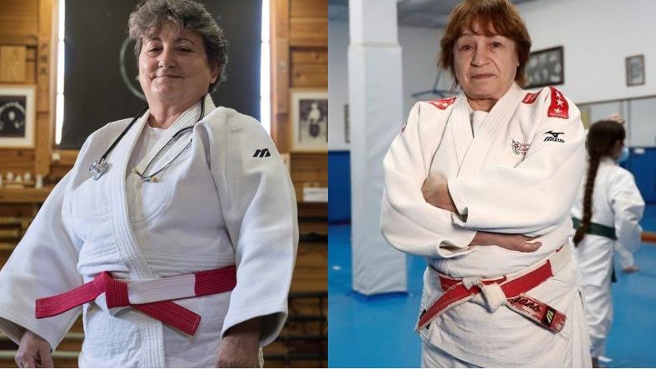 Mª Luisa Iglesias y Sacramento Moyano, las pioneras del judo madrileño