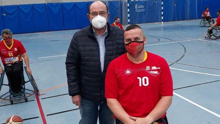 El Getafe, único equipo de la liga de baloncesto en silla de ruedas en jugar y entrenar con mascarilla