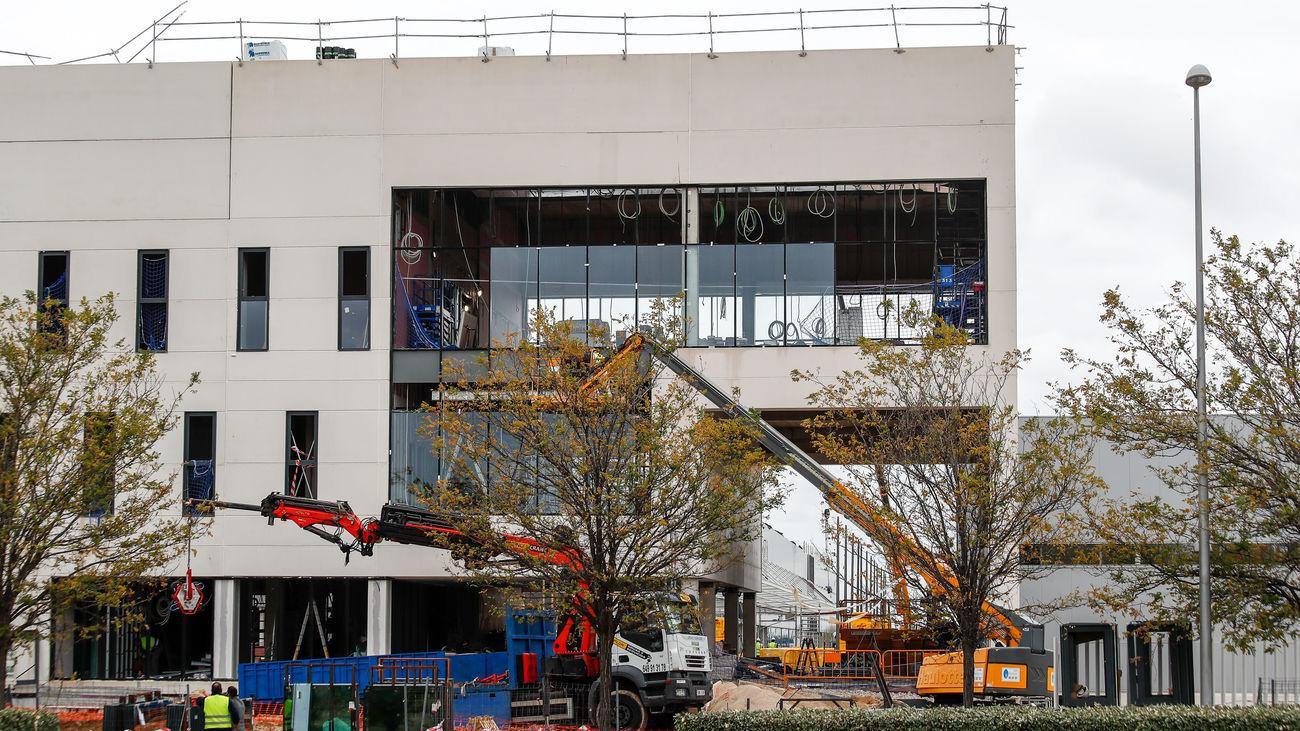 El Hospital de Emergencias durante su construcción