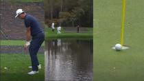 El alucinante hoyo de Jon Rahm en Augusta con triple bote en el agua