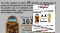 Roban 50 décimos de lotería en Rivas y se dan a la fuga