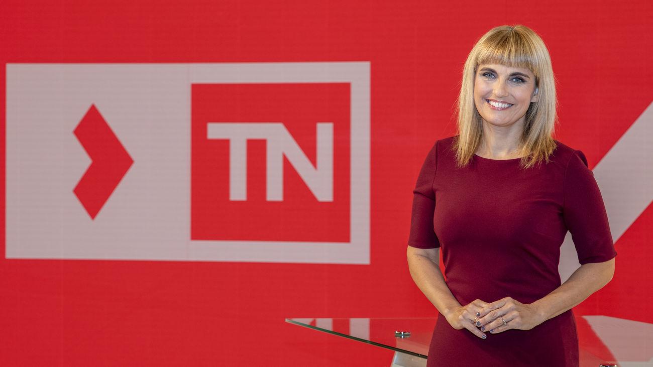 Lourdes Maldonado, presentadora del 'Telenoticias 1' de Telemadrid.