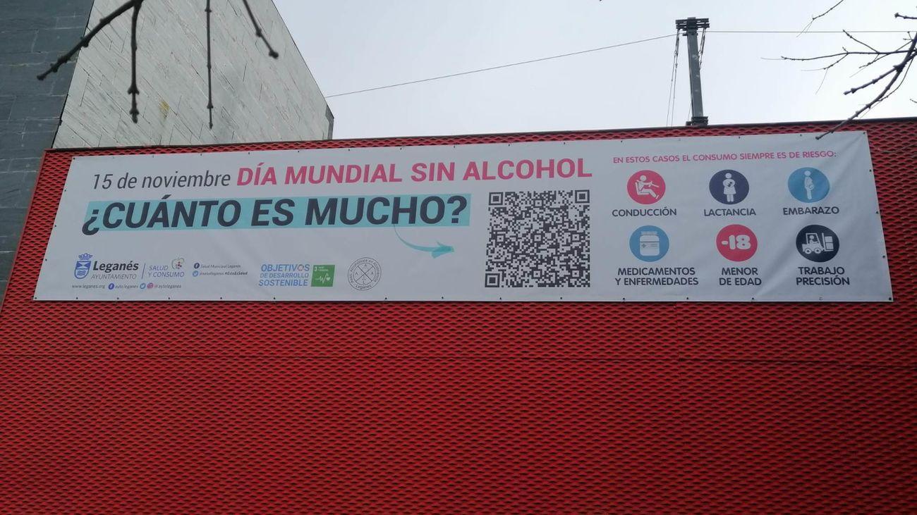 Campaña sobre el consumo de alcohol en Arroyo Culebro, Leganés