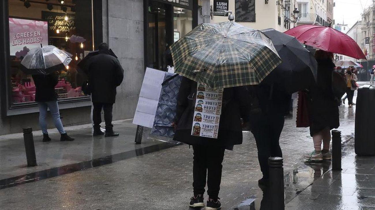 La lluvia, protagonista en Madrid