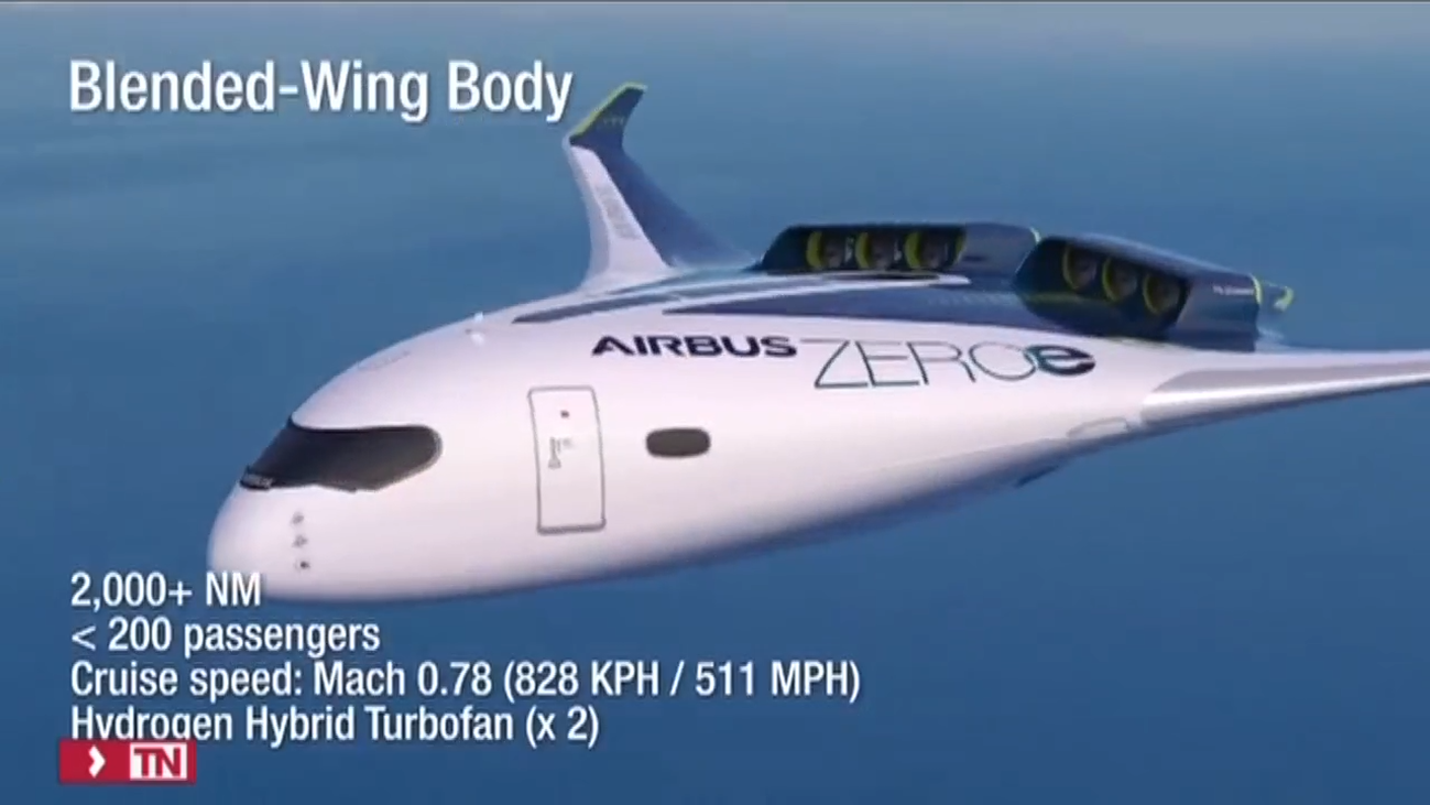 Airbus presenta tres aviones cero emisiones que volarán con hidrógeno en 2035