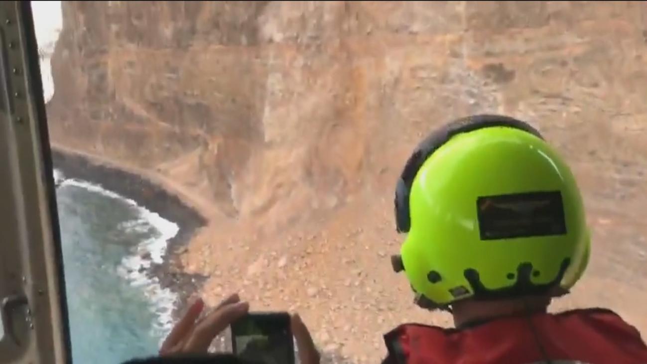 Los equipos de rescateno detectan personas atrapadas tras el desprendimiento de La Gomera