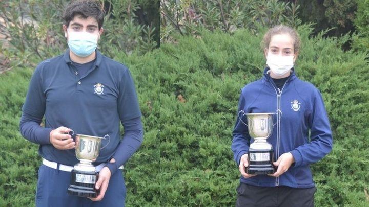 Paula Martín y Ramón Aroca, campeones de Madrid de golf sub'16
