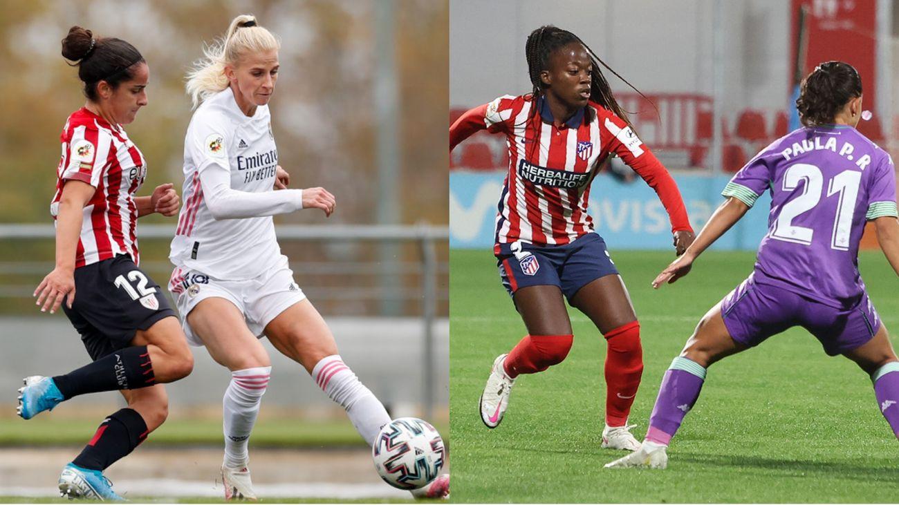 Atleti y Real Madrid vuelven a ganar en la liga de fútbol femenino