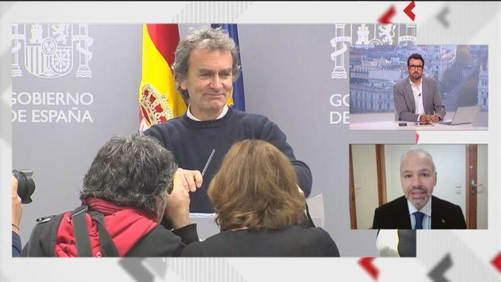 """El  presidente del Colegio de Médicos de Madrid califica a Fernando Simón de """"desafortunado"""""""