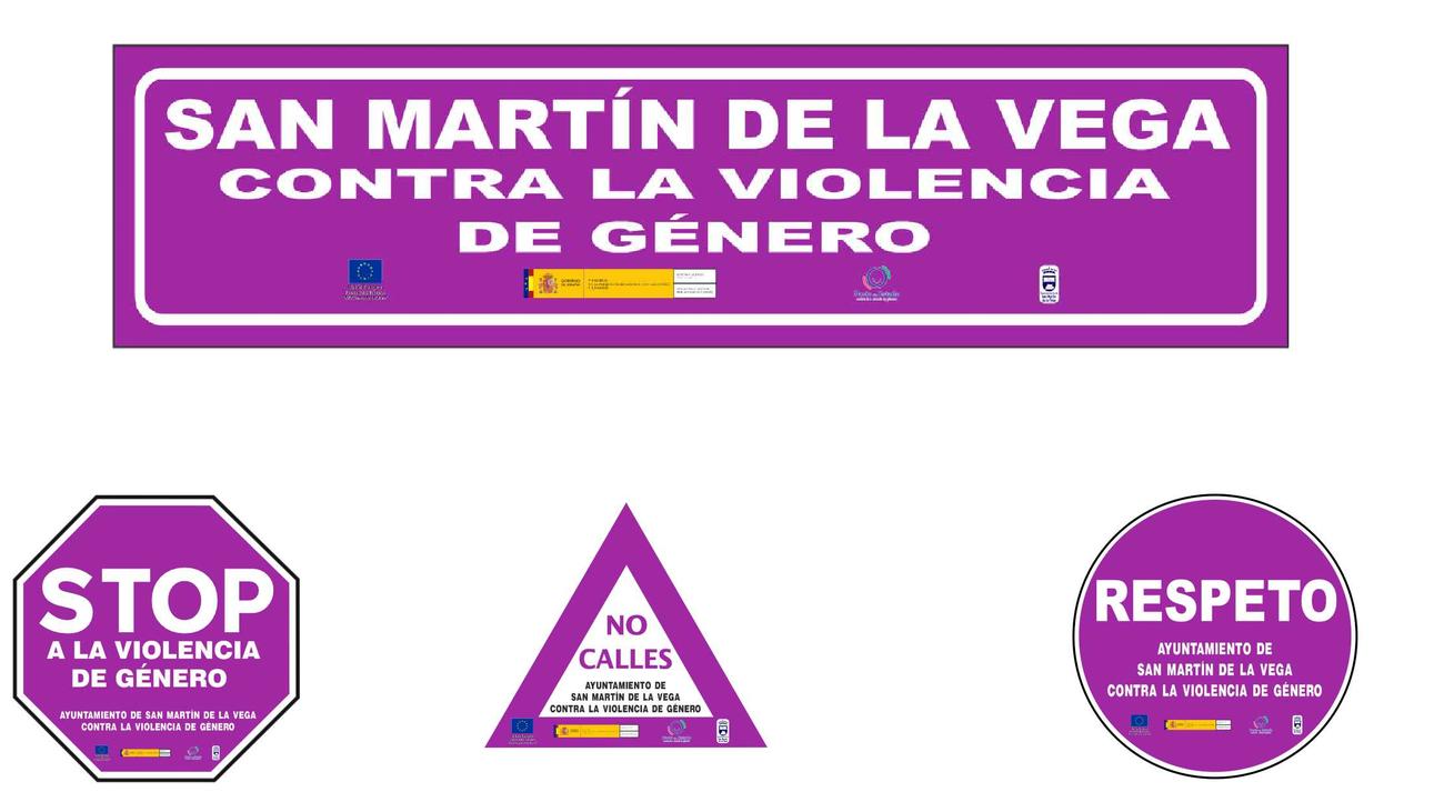 San Martín de la Vega instala señales contra la violencia de género