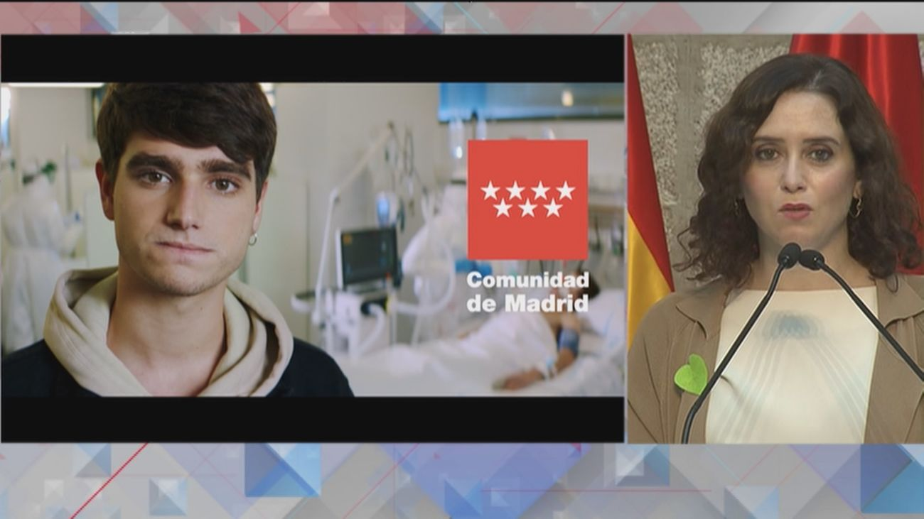 """Madrid presenta una """"dura"""" campaña para concienciar sobre la Covid, con especial atención a los jóvenes"""