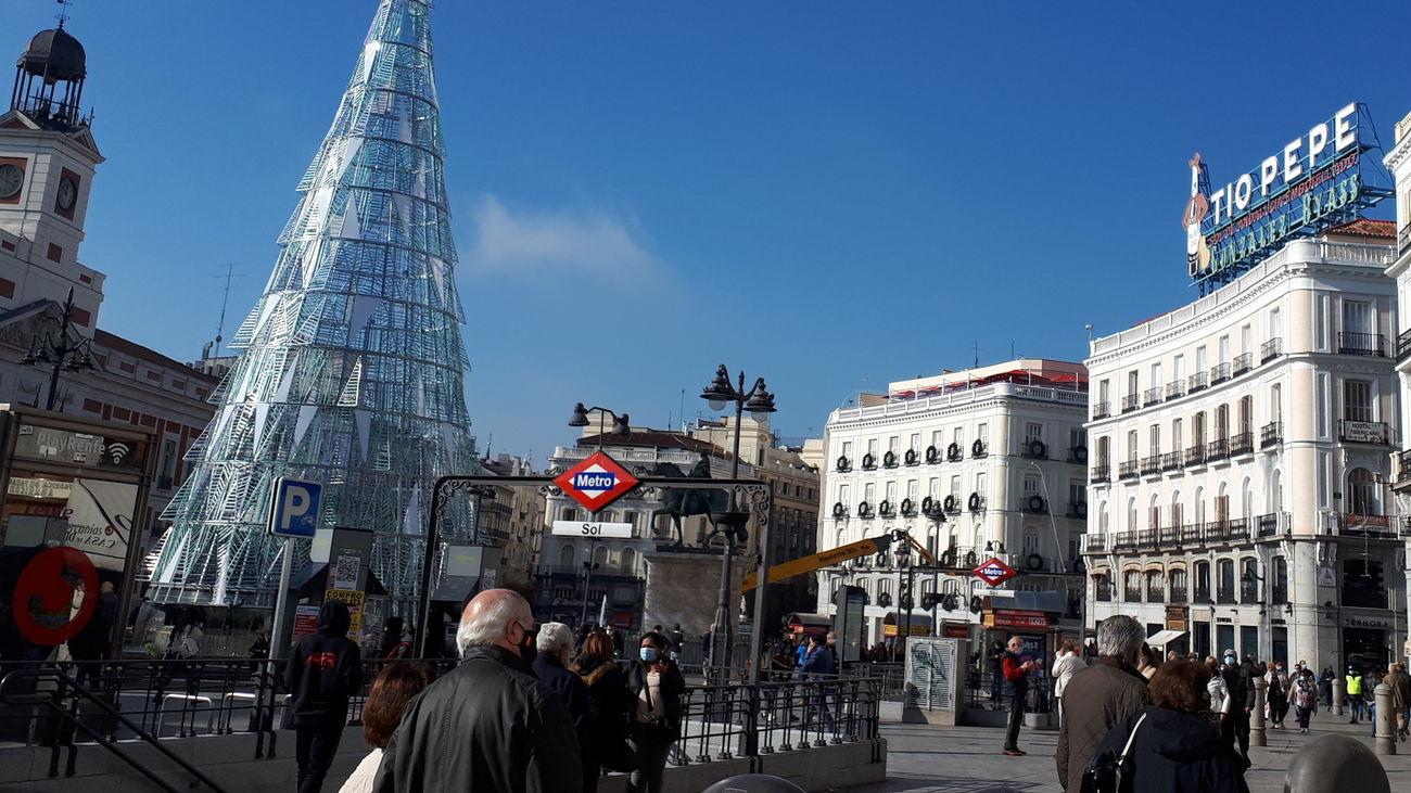 El coronavirus pasa factura a la Lotería de Navidad en  la Puerta del Sol