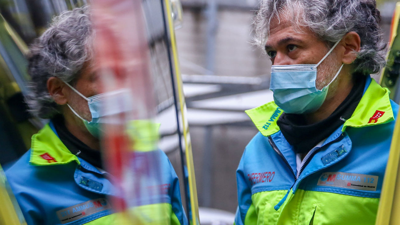 Sanitarios del SUMMA 112 en un día de servicio de la segunda ola del coronavirus