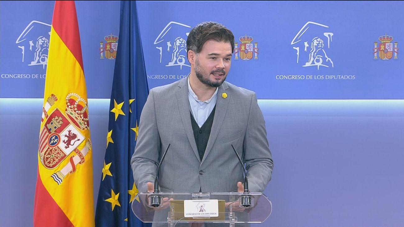 ERC da por hecho el acuerdo Bildu-PSOE sobre Presupuestos
