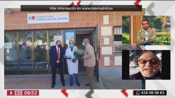 Valdetorres del Jarama despide con aplausos y emoción a Emilio, su médico durante más de 40 años