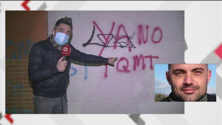 'TQMT', la pintada en Velilla de San Antonio detonante de la paliza mortal a Iván