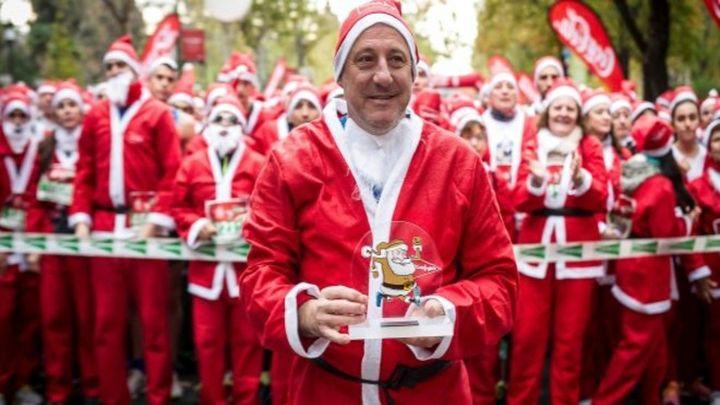 La tradicional carrera madrileña de Papá Noel, virtual y a beneficio de Cruz Roja