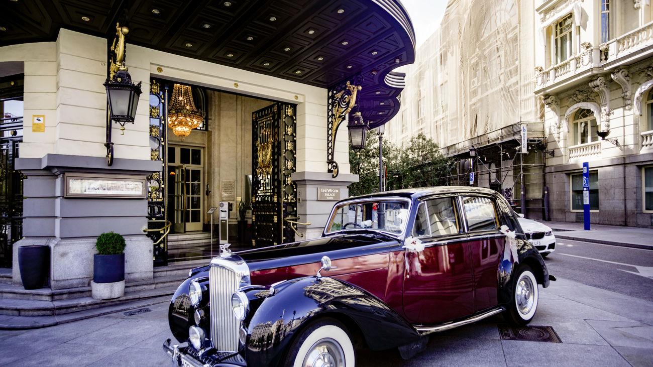 Entrada al hotel Palace, Madrid