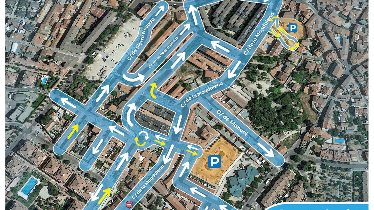 Colmenar Viejo reordena dos áreas del centro para dar mayor fluidez al tráfico