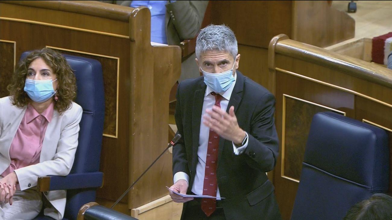 PP, Cs y Coalición Canaria piden la dimisión de Marlaska por la crisis de inmigrantes de Arguineguín