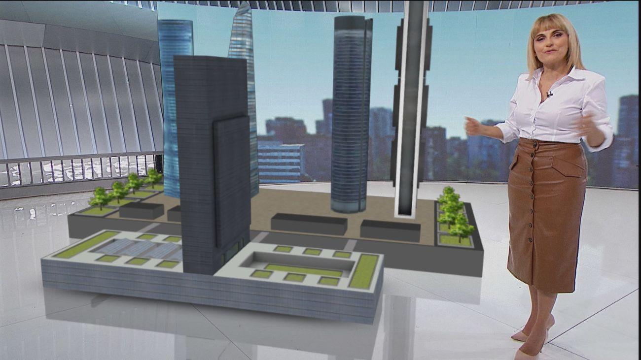 La Torre Caleido entra en su fase final y cambia el 'skyline' de Madrid