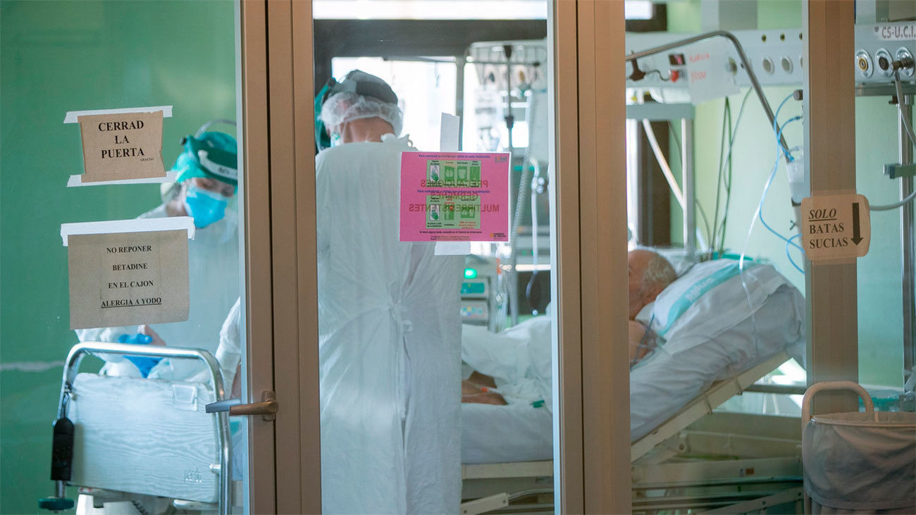 Paciente de Covid-19 en hospital