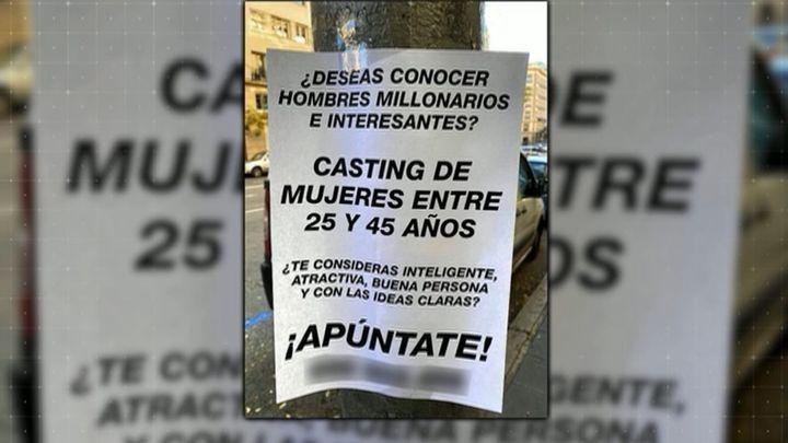 Carteles machistas llenan la calle Goya