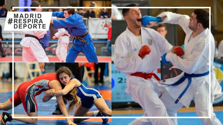 Exhibición de judo, kárate y lucha en Villaviciosa de Odón para fomentar el deporte seguro