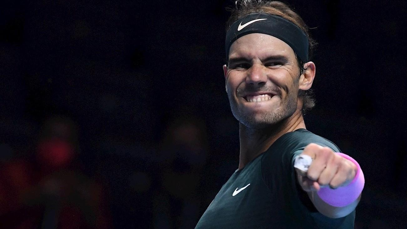 Nadal vuelve a semifinales de las Finales ATP cinco años después