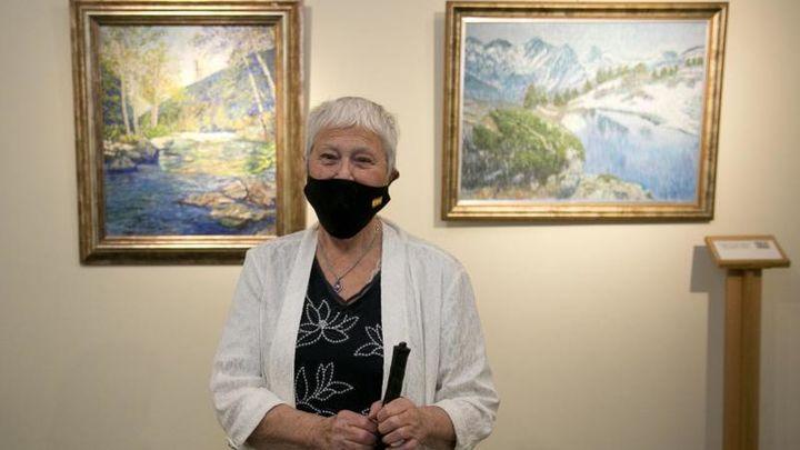 La pintora con discapacidad visual Cristina Gutiérrez Lafuerza expone en el Museo Tiflológico de la ONCE