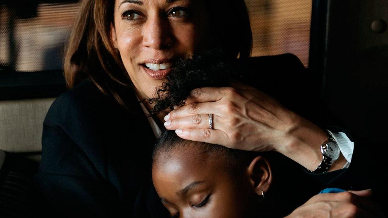 Detalle de una de la imágenes que el fotógrafo zaragozano Eduardo Ezequiel ha tomado a la vicepresidenta electa de Estados Unidos, Kamala Harris