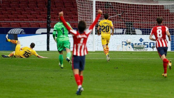 1-0. El Atlético de Simeone se quita la espina ante el Barcelona