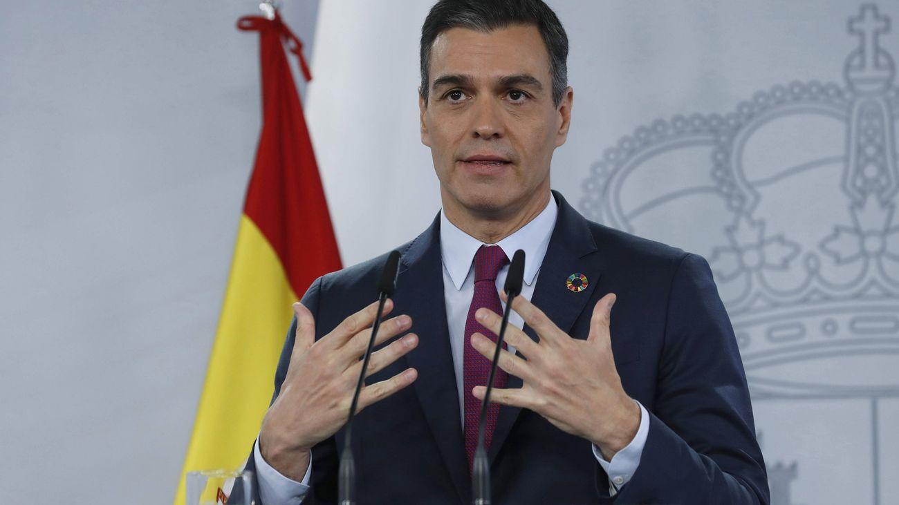 Sánchez anuncia que los casos de covid bajan de 400 por 100.000 habitantes