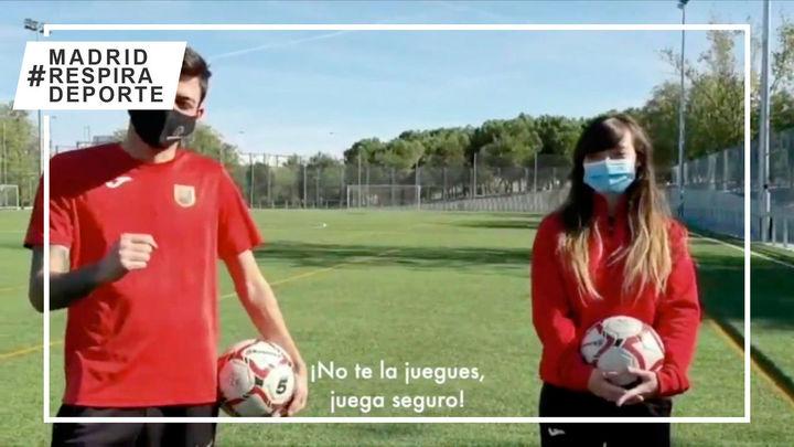 '¡No te la juegues, juega seguro!', deportistas madrileños se unen para concienciar sobre el covid-19