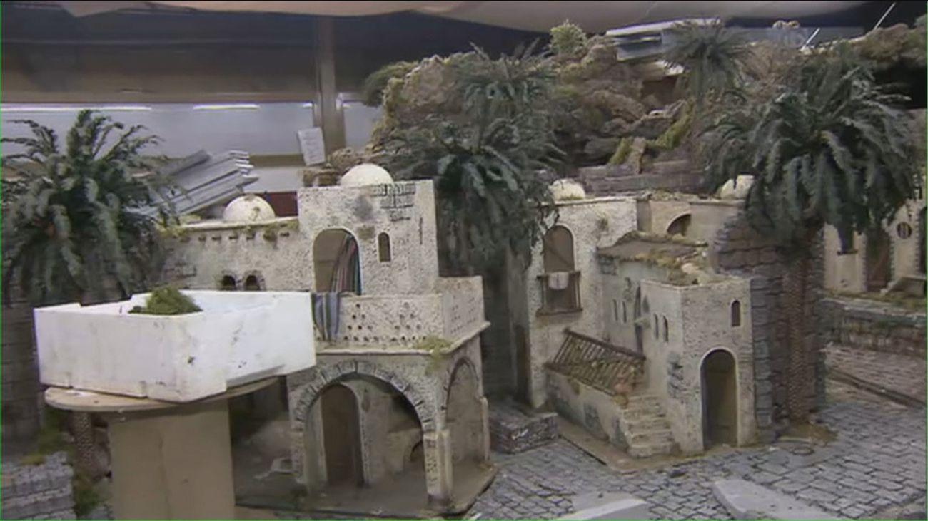 San Sebastián de los Reyes da forma ya a su belén monumental