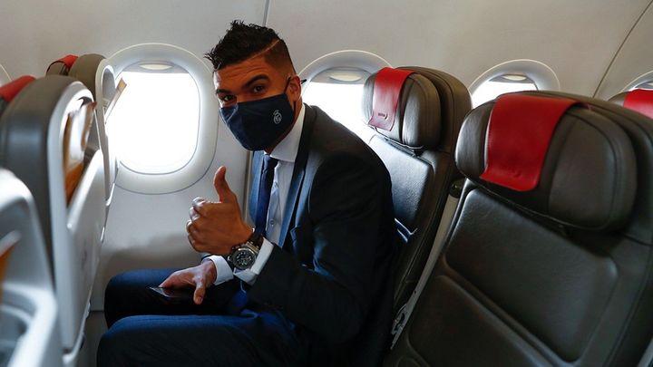 El Real Madrid ya está en Milán sin Benzema y con Casemiro
