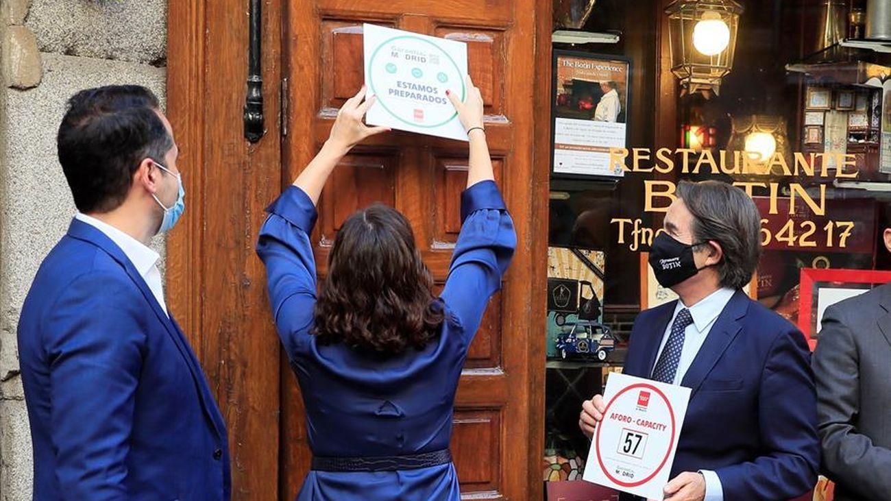 Nace el sello Garantía Madrid para dar valor a los bares y restaurantes que cumplen con las medidas antiCovid
